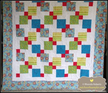This quilt was also made out of leftover  fat quarters from a shop sample.  The pattern is Patience Corners.