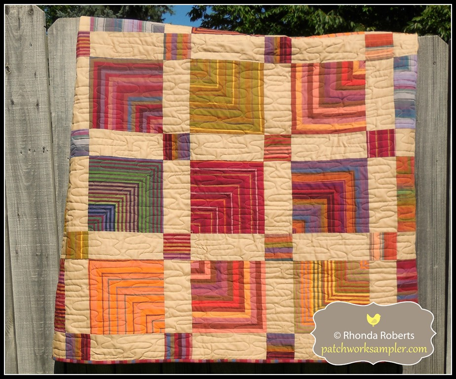 Quilt Patterns Using Stripe Fabric : A Friday Finish: Kaffe Striped Quilt - Patchwork Sampler
