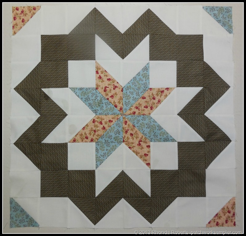 Star Surround Quilt Along:  My Willpower Collapsed