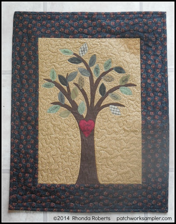Friday's Project:  Family Tree Wall Hanging