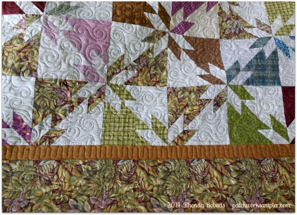 A Happy Ending For The Hunters Star Patchwork Sampler