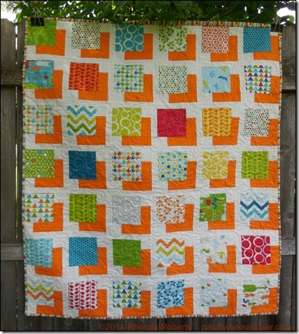 Baby quilt is one more variation of sashed squares the blocks