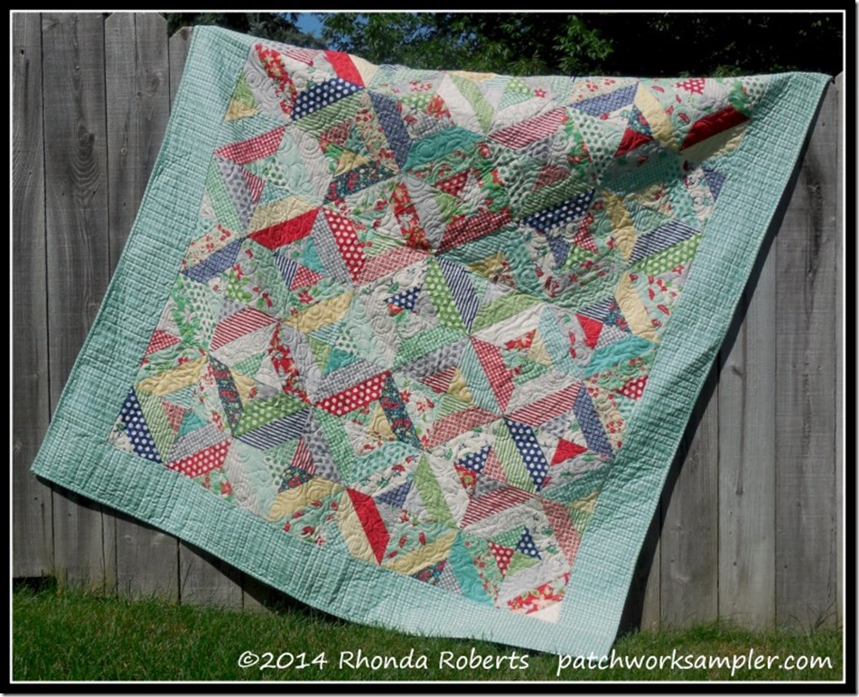 Garden Trellis Finished Patchwork Sampler