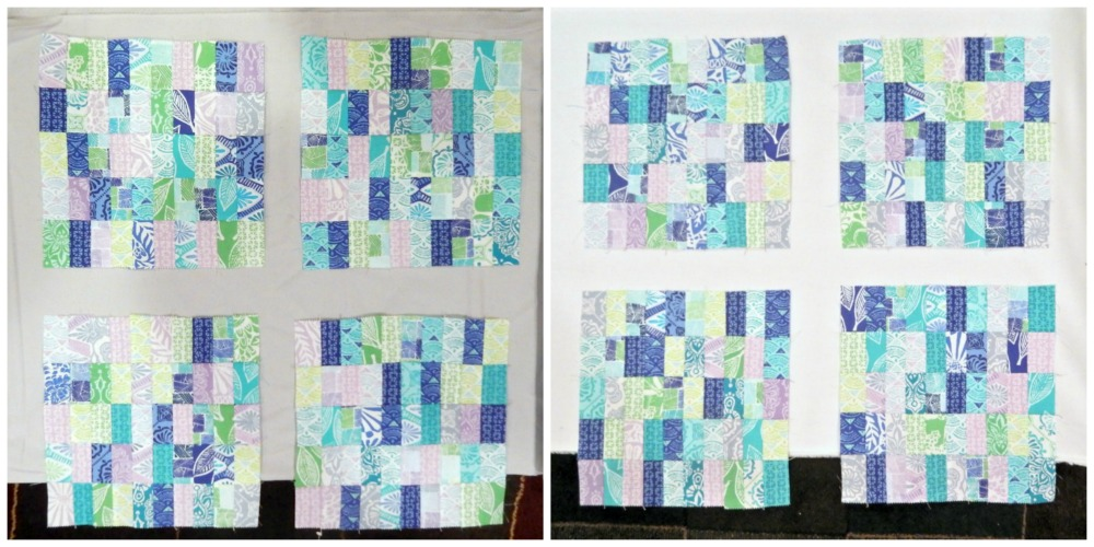 Sashing Decision for Stamp Quilt