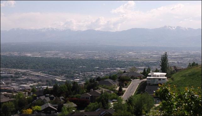 Ensign Peak-looking west
