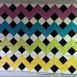 Design Wall Monday: Rainbow Chevron