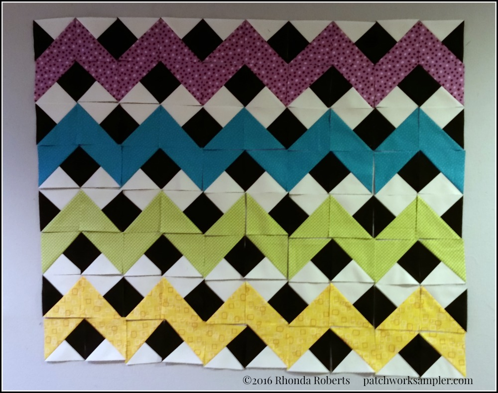 Rainbow Chevron blocks