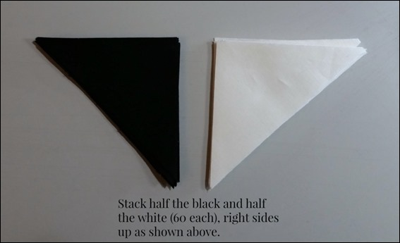 black white triangles