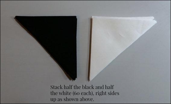 black white triangles