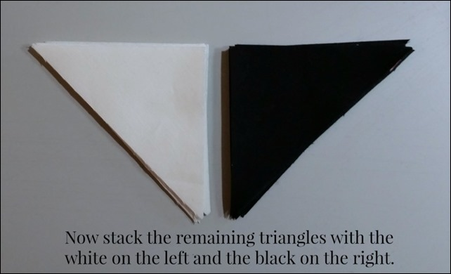 white black triangles