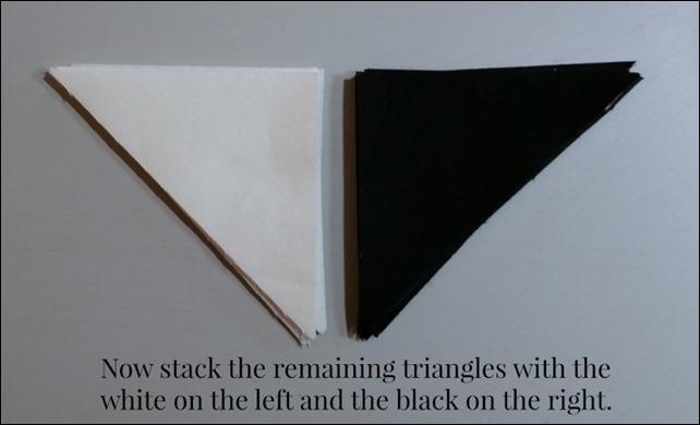 white black triangles