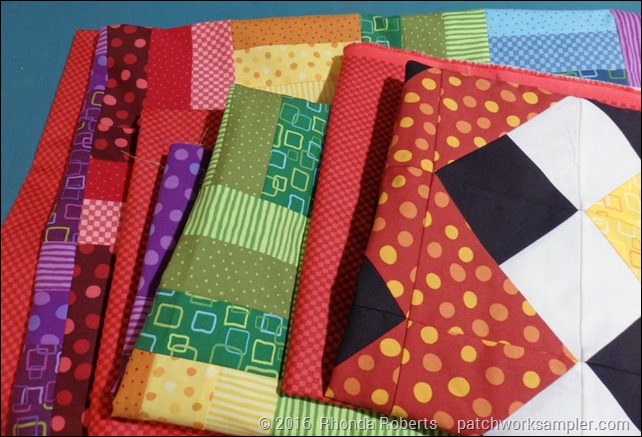 Rainbow quilts-backs