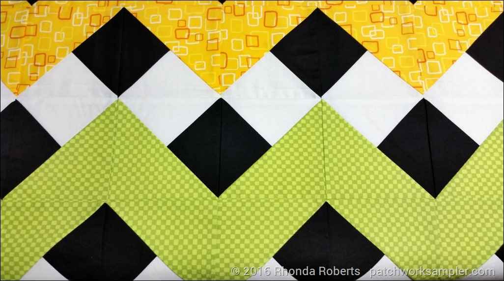 rainbow ribbon chevron quilting prep