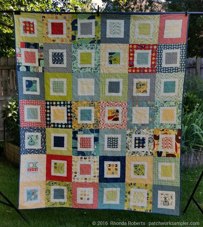 Framed Squares Quilt Finished