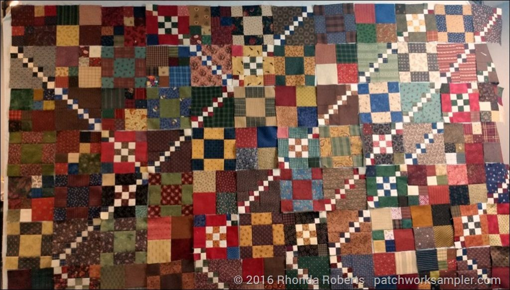Trail Mix Quilt top in progress