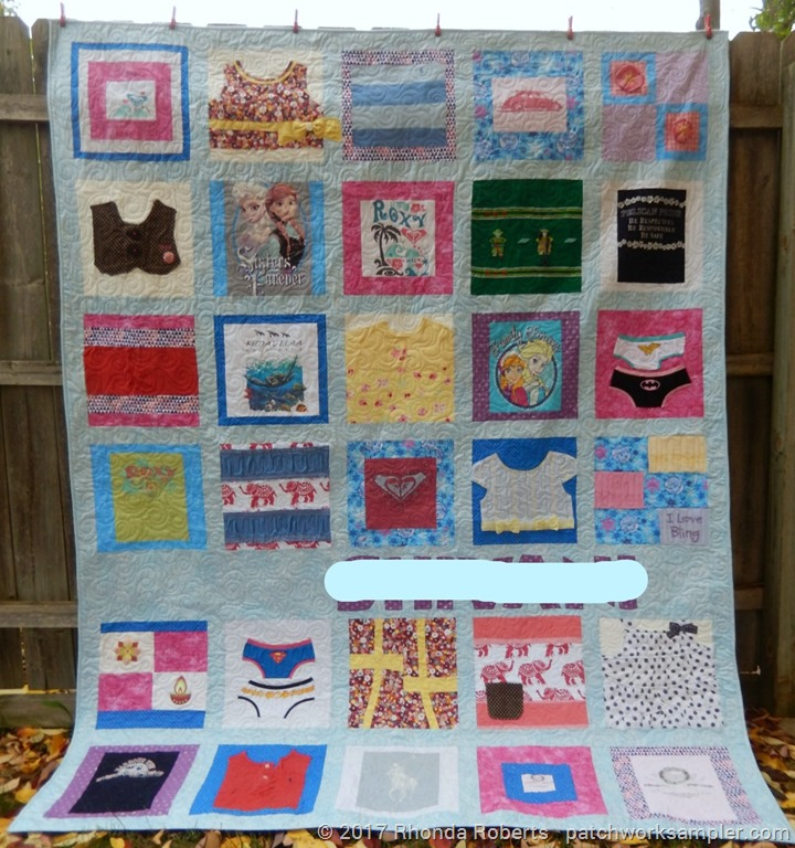 Memory Quilt-First Time Finished