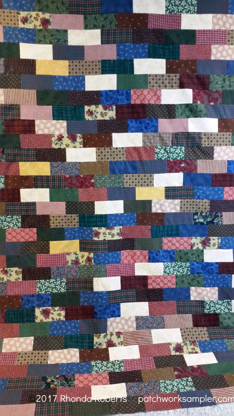Brickwork Flannel Quilt