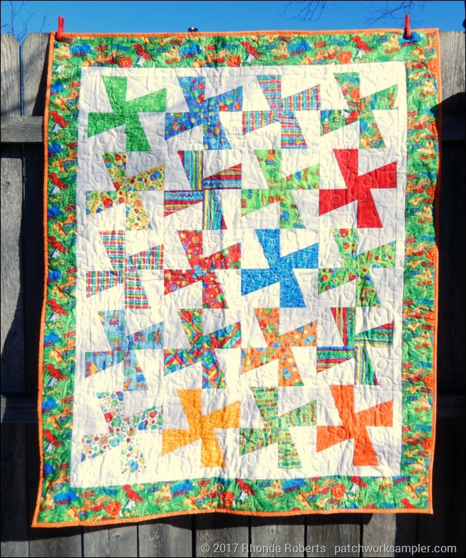 Friday Finish Puss In The Corner Baby Quilt Patchwork Sampler