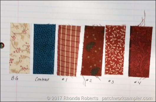 color card for fabrics