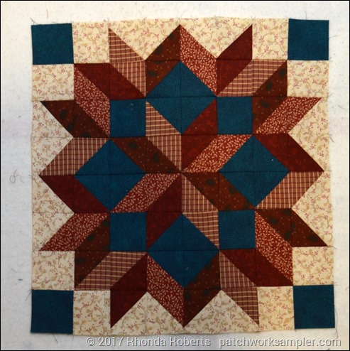 completed carpenter's star block