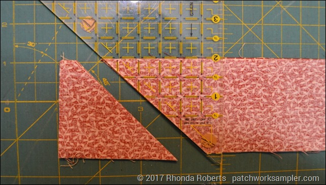 cutting half square triangles for carpenter's star block