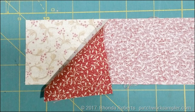 layer strips right sides together