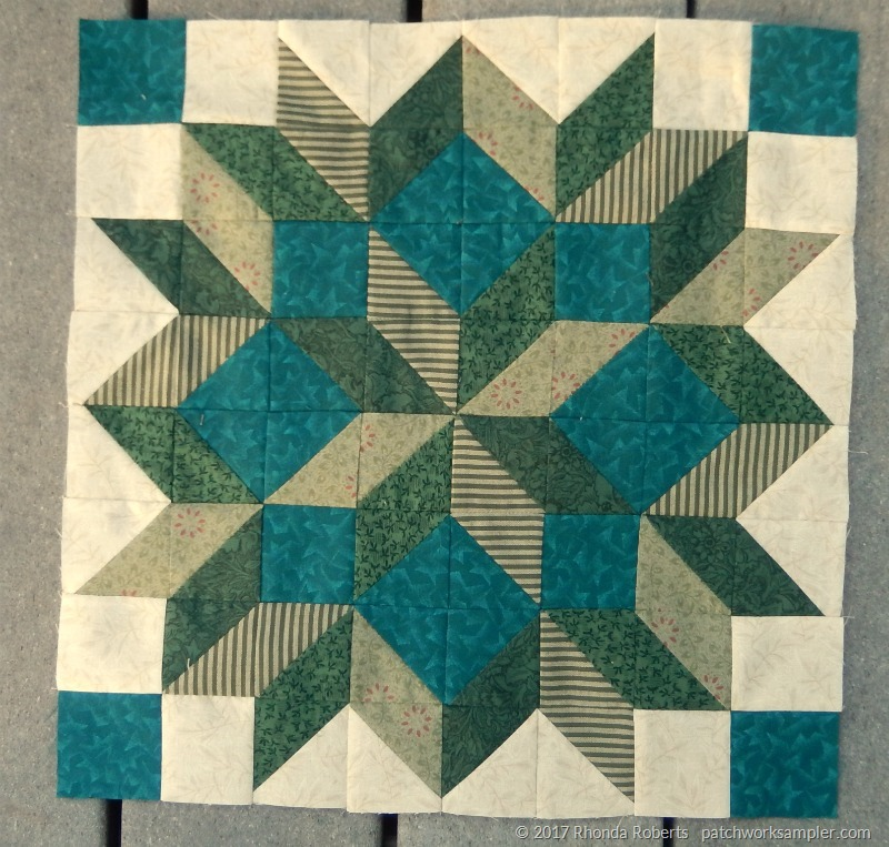 May RSC: Green Carpenter Star Blocks