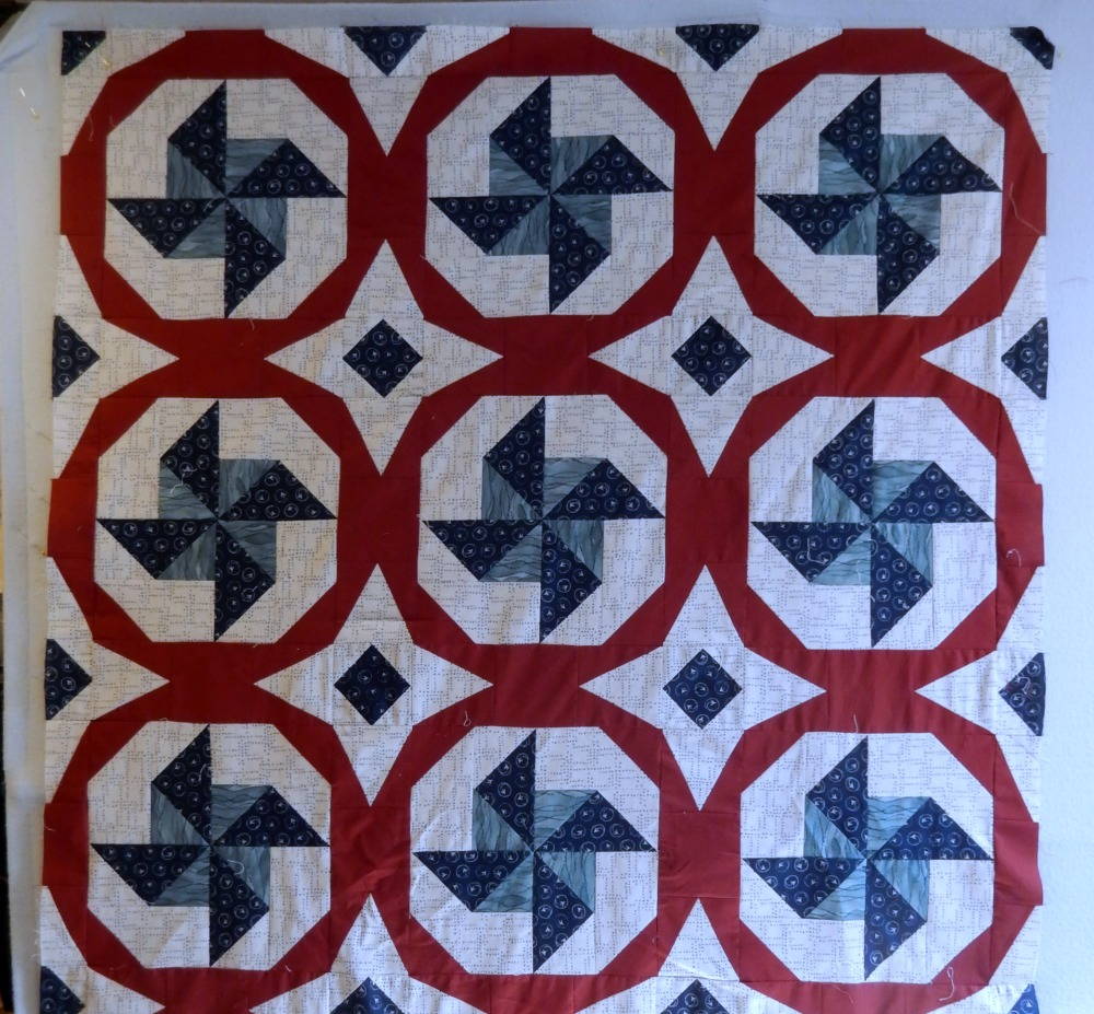 Pinwheel Quilt Progress
