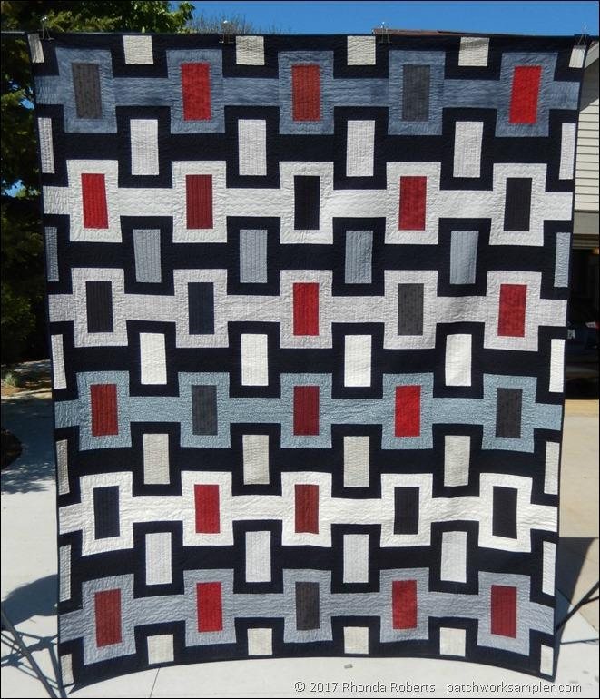 Summer Sewing Part 1: Graduation Quilt - Patchwork Sampler : masculine quilt - Adamdwight.com