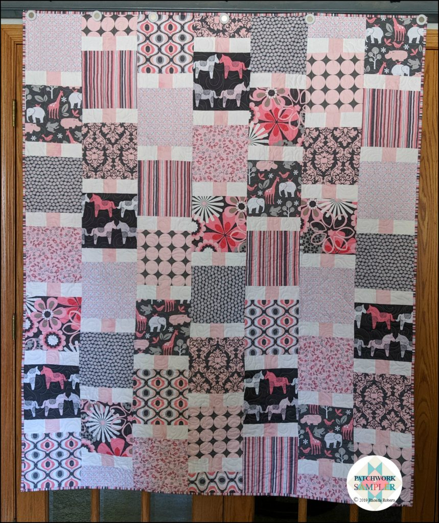 Pink and Gray Flutterby Quilt