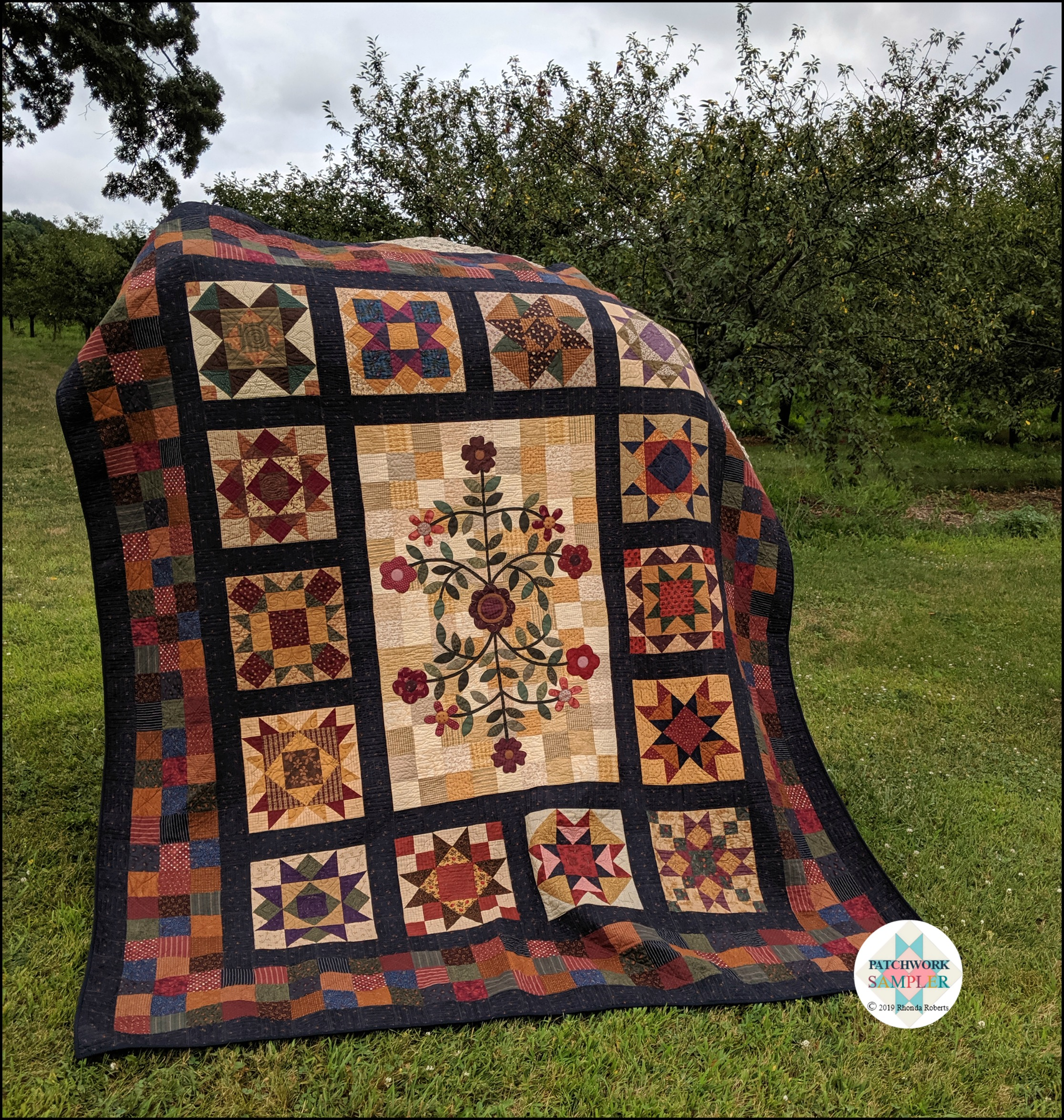 Stars Around The Garden Quilt