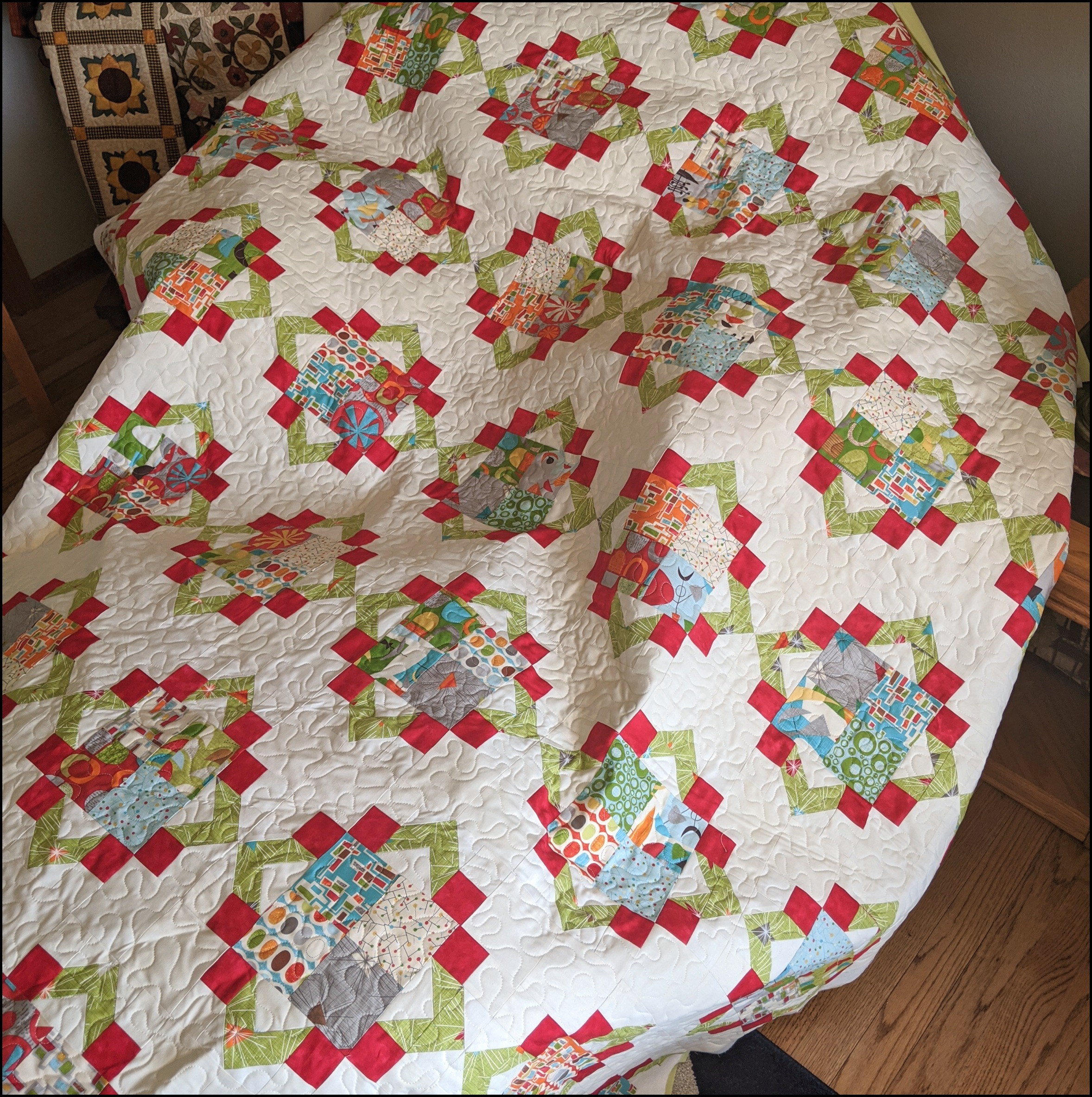 March Sewing: Cathedral Squares Quilt