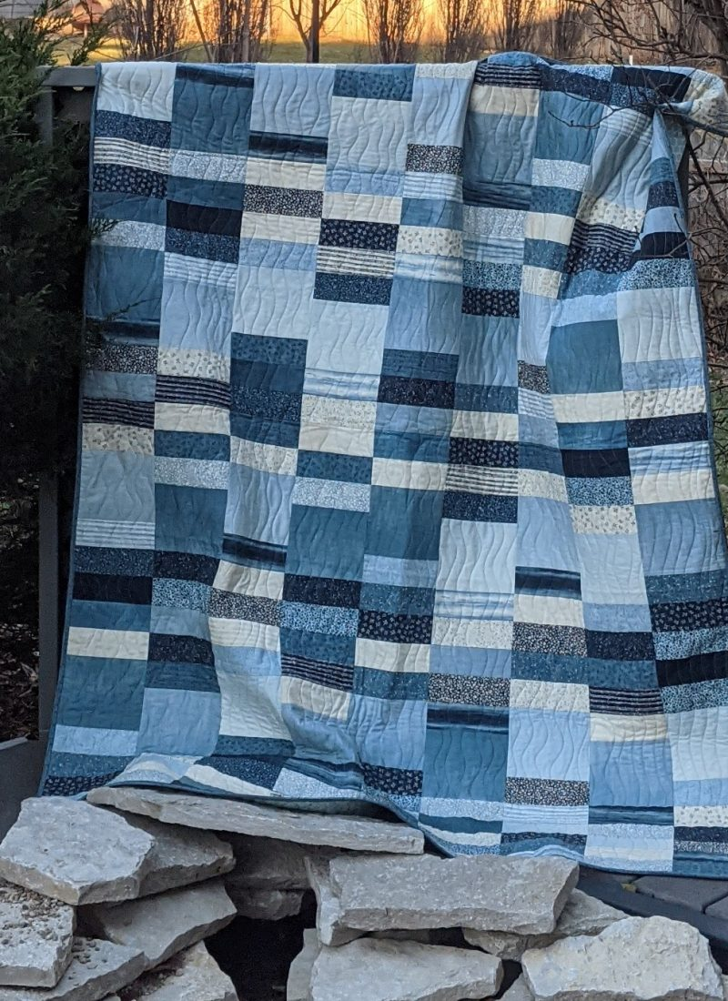The Blues. New Fabric, New Quilt