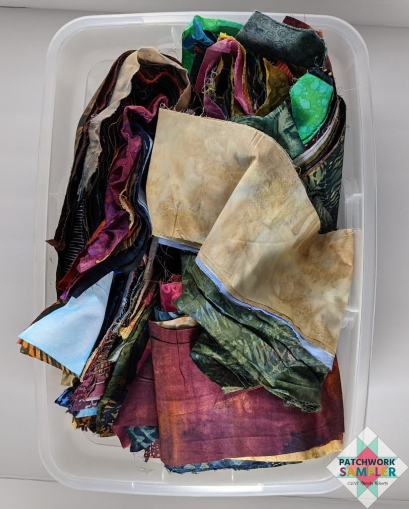 batik scrap bin