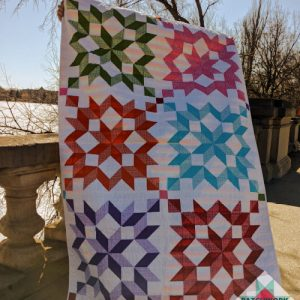 Gingham Rainbow Swoon Quilt