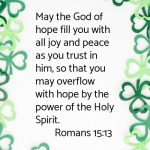 Sunday Meditation: Romans 15:13